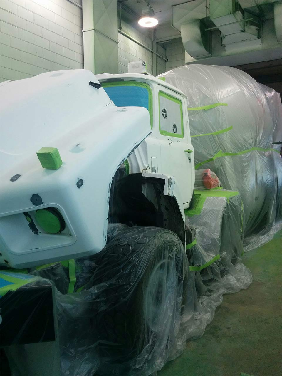 Painting Cement Truck